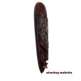 Moderne Afrikanische Gesichtsmaske aus Ghana. Moderne Afrika Maske der Ashanti. Springbockkopf-Motiv