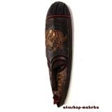 Moderne Afrikanische Gesichtsmaske aus Ghana. Moderne Afrika Maske der Ashanti Elefant-Motiv