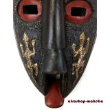 Afrikanische Gesichtsmaske  der Ashanti aus Ghana. Moderne Afrika Wandmaske