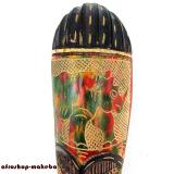 Afrikanische Maske Nashorn-Motiv der Ashanti aus Ghana. Moderne Afrika Maske. Rhino-Motiv