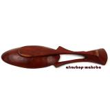 Obstschale Löffel klein aus Mahagoni, Dekorationsschale, Aufbewahrungsschale, Schale