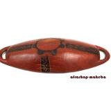 Obstschale, oval aus Mahagoni, Dekorationsschale, Aufbewahrungsschale, Schale