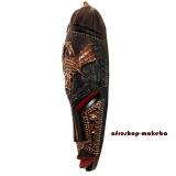 Afrika Maske der Ashanti Sankofa-Motiv. Kleine Afrikanische Gesichtsmaske aus Ghana.