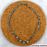 Glasperlen-Ketten, gemischt blau/Hellblau