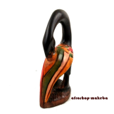 Sankofa, Symbolfigur der Akan in der Elfenbeinküste und Ghana, Sese-Holz