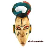 Guro-Maske. Traditionelle Afrikanische Maske von der Elfenbeinküste.