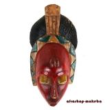 Afrika Maske der Guro.  Originale traditionelle Afrikanische Maske von der Elfenbeinküste.