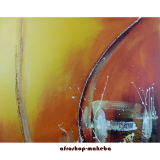 Modernes abstraktes afrikanisches Gemälde. Burkina Faso