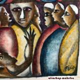 Modernes afrikanisches Gemälde auf Leinwand