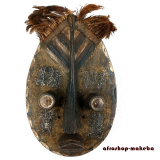 Traditionelle Maske der Grebo aus Liberia. Große Tanzmaske