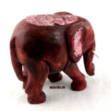 Afrikanischer Elefant mit eingearbeiteten ziselierten Weißblech