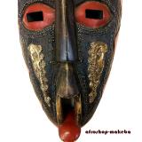 Moderne Afrikanische Gesichtsmaske aus Ghana. Moderne Afrika Maske