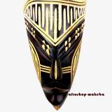 Afrikanische Maske der Ashanti aus Ghana. Moderne Afrika Maske. Löwenmotiv